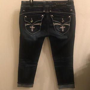 Rock Revival Jeans - Rock Revival Stephanie Easy Capri 25